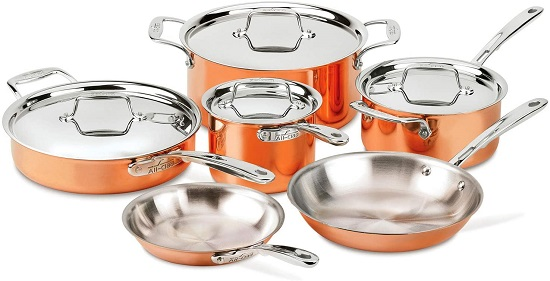 All-Clad C4 Copper Stainless Steel Cookware Set