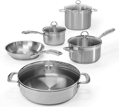 Chantal SLIN-9 Induction Base Stainless Steel Cookware Set