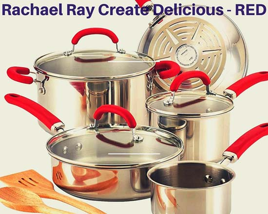 Rachael Ray 10 piece Stainless Steel Cookware Set Reviews - An Ultimate Guide 2