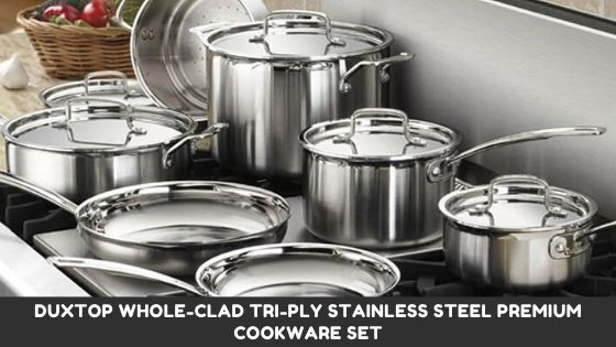 Duxtop Whole-Clad Tri-Ply Stainless Steel Premium Cookware Set