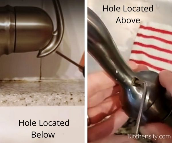 Put Hex Wrench Inside The Hole