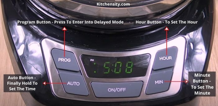 Black And Decker Program Buttons To Set The Time