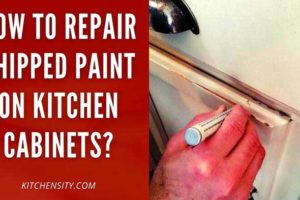 How To Repair Chipped Paint On Kitchen Cabinets? With 8 Easy Steps